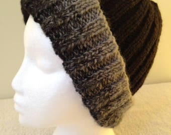 Black and Grey Adults Beanie