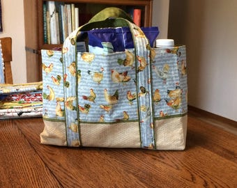 Classy Chicken Market Tote / Grocery / Shopping Bag