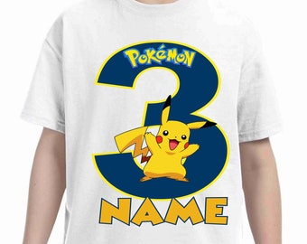 Pokemon Birthday t-shirt-Pokemon birthday shirt