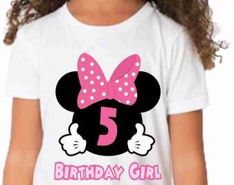 Minnie Mouse Birthday t-shirt Minnie mouse birthday shirt