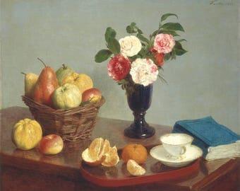 Reproduction painting Henri Frantin-Latour still life.