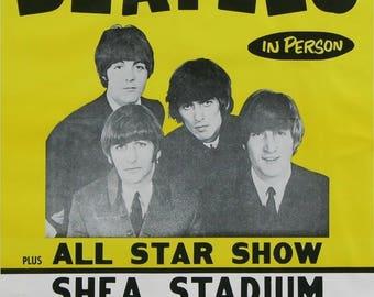 Vintage Beatles concert poster.