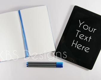 iPad with notebook /Stock Photo/ Styled Photo Background/ Social Media