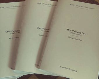 The Warmest Low (Chapbook One) Limited Edition Two