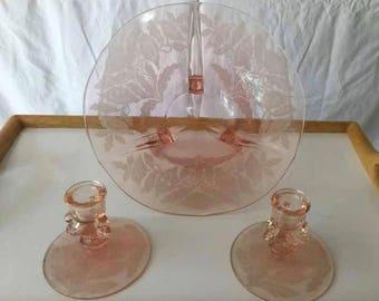 Vintage Pink Glass Set