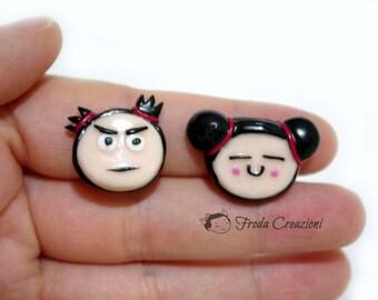 Pucca - Garu - Funny Love - Clip Earrings - Clip on - Kawaii -