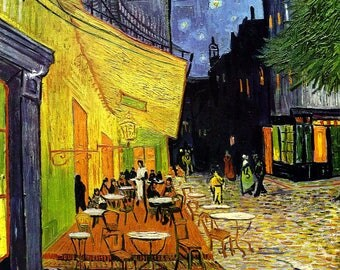 Cafe Terrace at Night Painting by Vincent van Gogh Art Reproduction