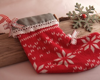 Hand-Stitched and Decorated - Christmas Stocking With Handmade Christmas Card