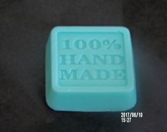 Cute mint green guest soap with the refreshing fragrances of mint and eucalypt