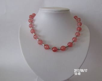 Beautiful cherry quartz necklace gemstone