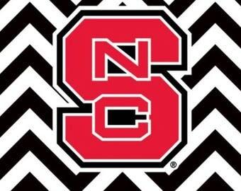 North Carolina State Coasters Tile set of 4
