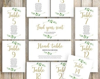 Printable Wedding Seating Template Seating Plan Wedding Seating Cards Table Cards Seating Cards Floral Seating Chart Template Jasmine