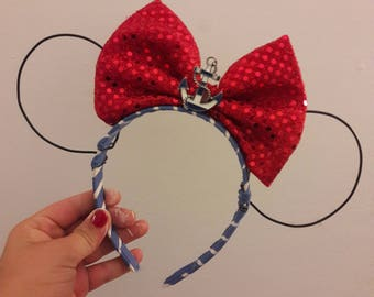 Red White and Blue Nautical Minnie Ears