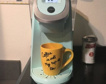 Coffee is not my cup of tea - Mug - Yellow