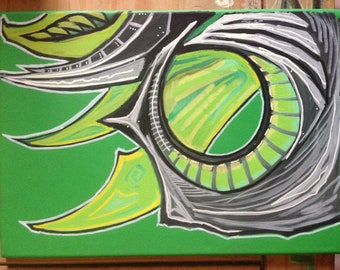 Biomechanical Acrylic Painting
