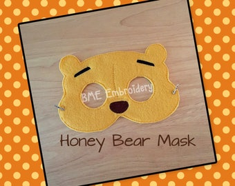 Pooh Inspired Mask-Halloween MAsk/Costume-Dress Up-Pretend Play-Child's Imaginary Play- Birthday Party Favor-Theme Parties-Photo Prop
