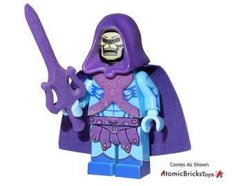 PCC Atomic Bricks Toys Custom Printed Masters of the Universe Skeletor Custom Minifigure Brand New 1 Per Order