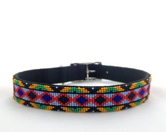 Beaded Dog Collar REAL DE 14