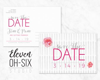 Save the Date - No Photo - Postcard - Wedding Announcement