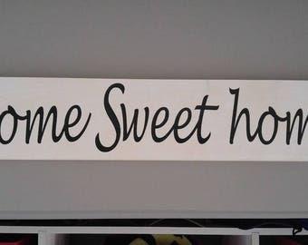 "Rustic Wood ""home sweet home"""