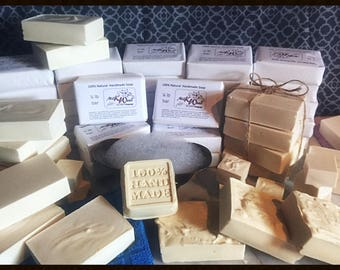 100% All Natural Handmade Soap - U choose scent! FREE SHIPPING!