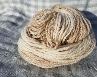 Handspun rambouillette and shetland yarn