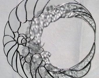 Tiffany window image transparent silver Moon