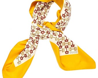 Gucci silk scarf-Authentic