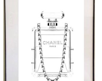 Chanel perfume bottle  print!