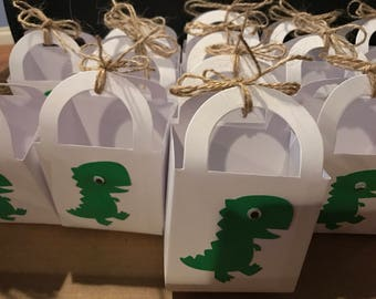 Green Dino- Small Favor Bags