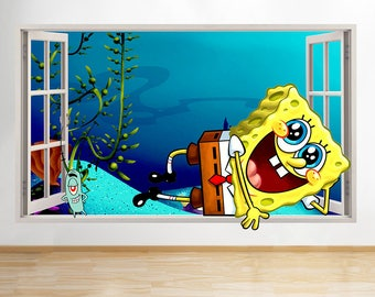 Spongebob Baby Decor Etsy - Spongebob wall decals