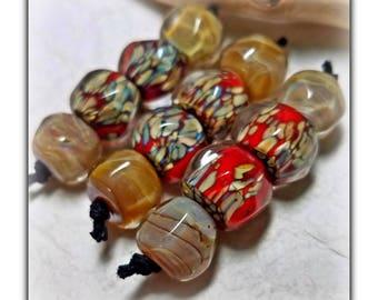 Fool's Gold** Handmade Lampwork Beads