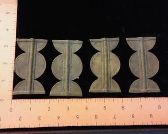 Set of 4 Brass Ornate Pendant