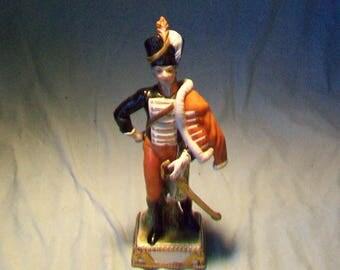 Vintage Dresden Husar Figurine