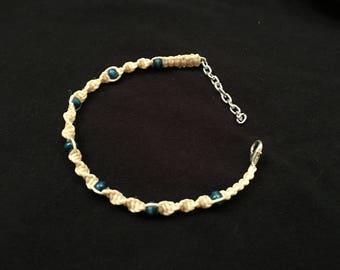Beige & Blue Bracelet