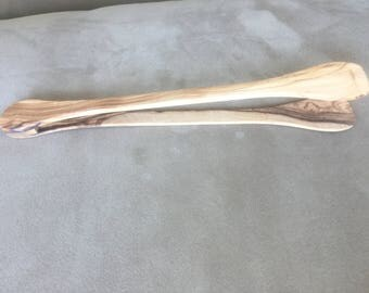 Olive wood toast tong