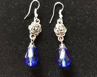 The Wedding Party Rose Dangle Drop Earrings Made to Order