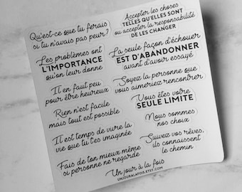 #2 quotes stickers (french)