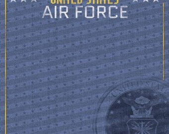 "United States of America Air Force Custom Selected 12"" x 12"" Scrapbook Paper Set US Military Themed Travel Vacation Papers - Our Favorites"