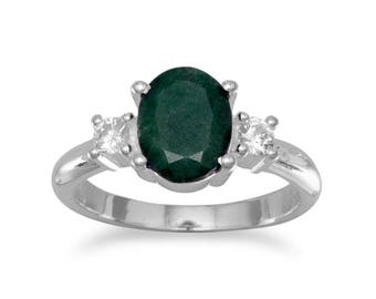 Beryl and CZ Ring