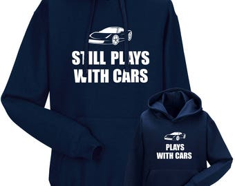 Partnerlook Hoody father child cars