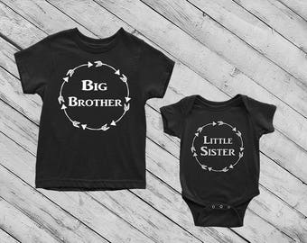 Big Brother/Little Sister Shirts, Big Brother, Little sister, Matching Shirts, Sibling Shirt Sets, Matching Sibling Shirt Sets