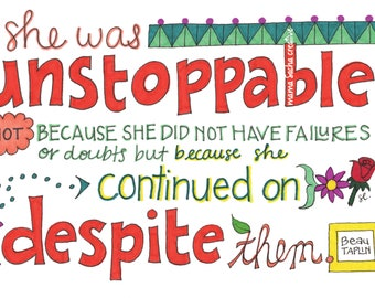 She was Unstoppable card