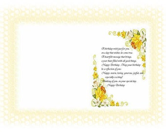 Assorted set of Female Birthday card inserts with verse