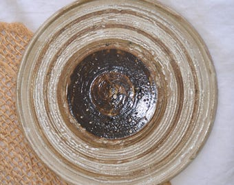 Vintage Ceramic Handmade Glazed Plate