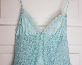 Blue Babydoll Lingerie / Vintage Camisole / Lingerie