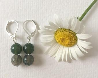 Jasper earrings, Hypoallergenic, Jasper jewelry, Green earrings, Jewelry, Boho jewelry, Beaded earrings, Green jewelry, Earrings