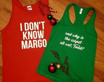 SET of Christmas Tanks - Christmas Vacation - His and Hers