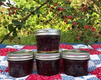 Seedless wild blackberry jam