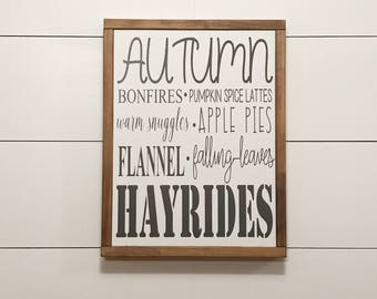 Farmhouse sign-Famhouse decor-AUTUMN sign-Custom wood sign-Rustic-Fixer upper sign